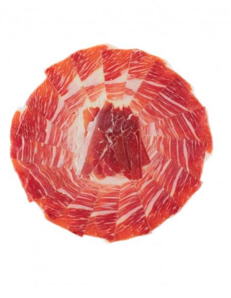 """5 x Loncheado de Jamón de Cebo de Campo Ibérico """"50% Raza Ibérica"""" en plato, cortado a cuchillo - Loncheados en Ibéricos Brisa"""