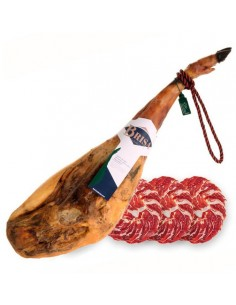 "Jamón de Cebo de Campo Ibérico ""50% Raza Ibérica"" (Pieza entera loncheada a cuchillo en platos de 100g.) - Loncheados en Ibér..."
