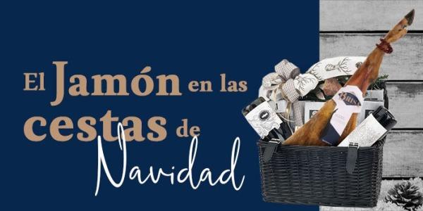 El jamón ibérico en las cestas de Navidad